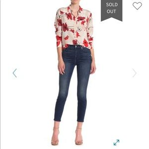 7 for all mankind high waisted ankle skinnies